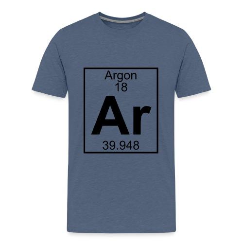 Argon (Ar) (element 18) - Teenage Premium T-Shirt