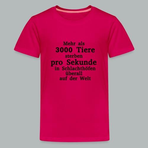 3000 Tiere die Sekunde - Teenager Premium T-Shirt