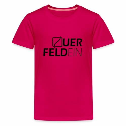 Querfeldein Logo - Teenager Premium T-Shirt