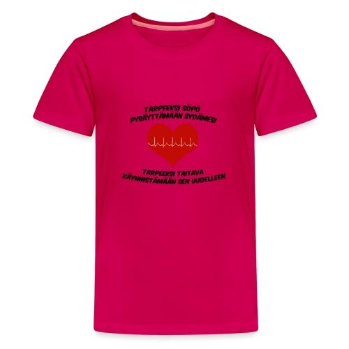 Söpö ja taitava - Teinien premium t-paita
