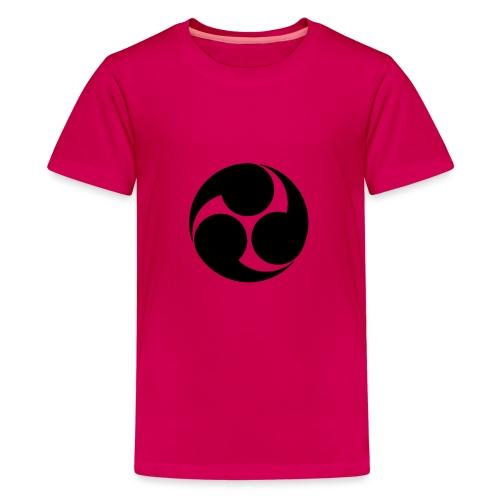 Kobayakawa Mon Japanese clan black - Teenage Premium T-Shirt