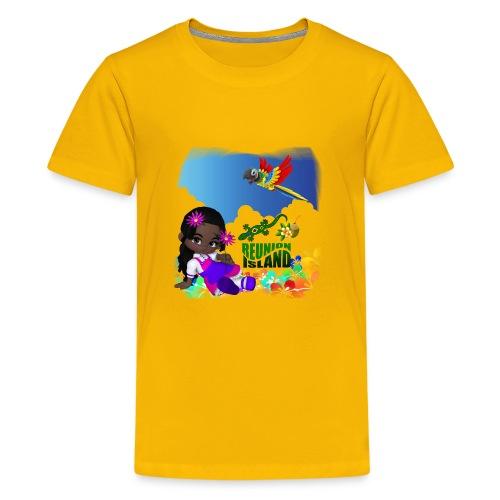 Reunion Island fillette - T-shirt Premium Ado