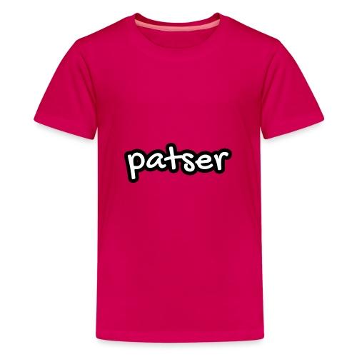 Patser - Basic White - Teenager Premium T-shirt