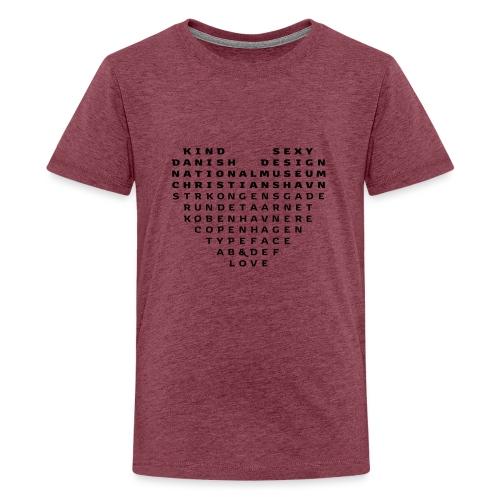 Copenhagen Heart - Teenager premium T-shirt