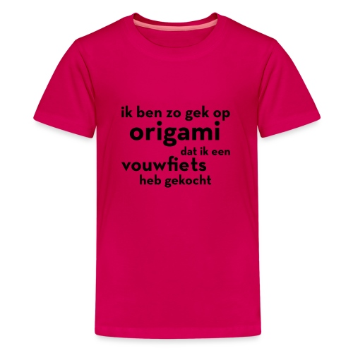 Origami - Vouwfiets - Teenager Premium T-shirt