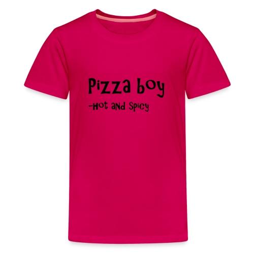 Pizza boy - Premium T-skjorte for tenåringer
