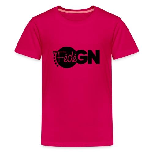 Logo FédéGN pantone - T-shirt Premium Ado
