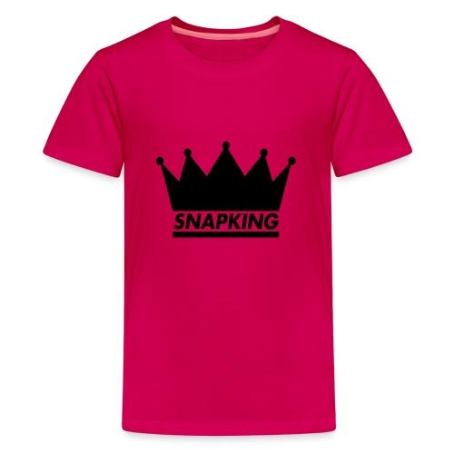 Snapking kroon - Teenager Premium T-shirt