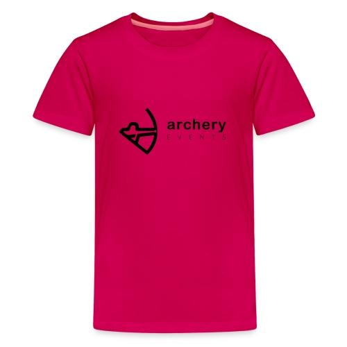 Archery Events Logo - Teenager Premium T-Shirt