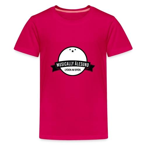 Musically Ålesund Official Logo - Premium T-skjorte for tenåringer