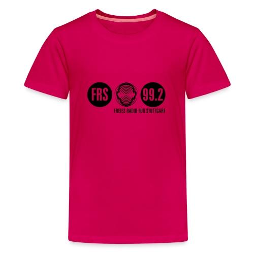 Logo FRS schwarz - Teenager Premium T-Shirt