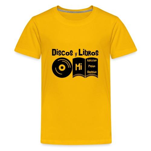 Discos y Libros - Camiseta premium adolescente