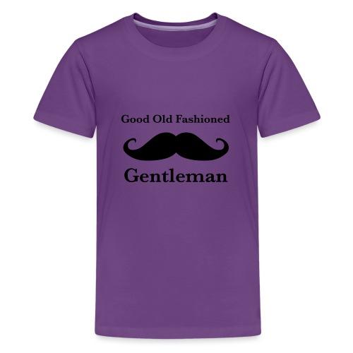 Gentleman's Moustache - Teenage Premium T-Shirt