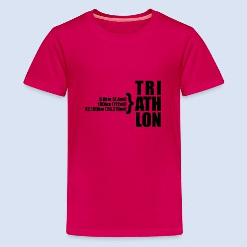 Triathlon Sport Distance - Teenager Premium T-Shirt