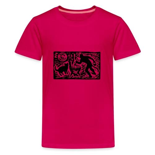 Teufel mit Katze - Teenager Premium T-Shirt
