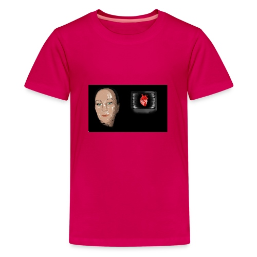 Digital heart - Premium T-skjorte for tenåringer