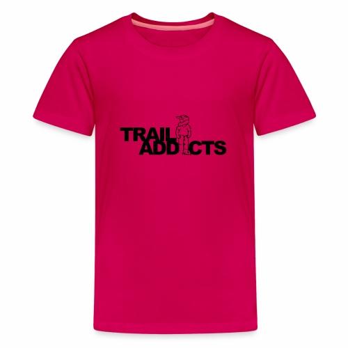 Trail addicts ZWART - Camiseta premium adolescente