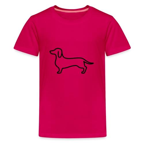 sausage dog - Teenage Premium T-Shirt