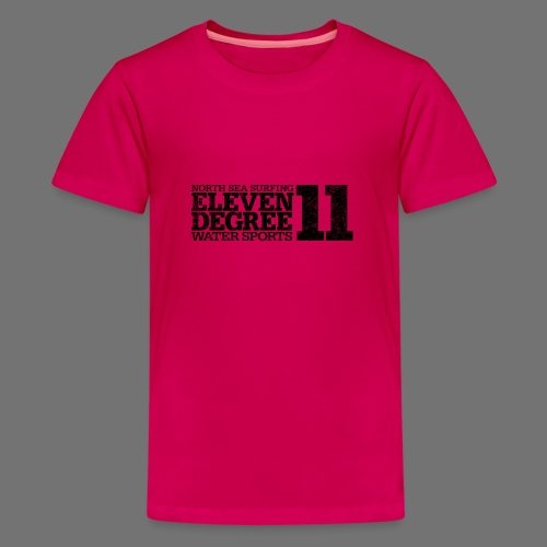 eleven degree black (oldstyle) - Teenage Premium T-Shirt