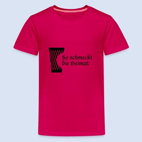 Geripptes mit Biss - Teenager Premium T-Shirt