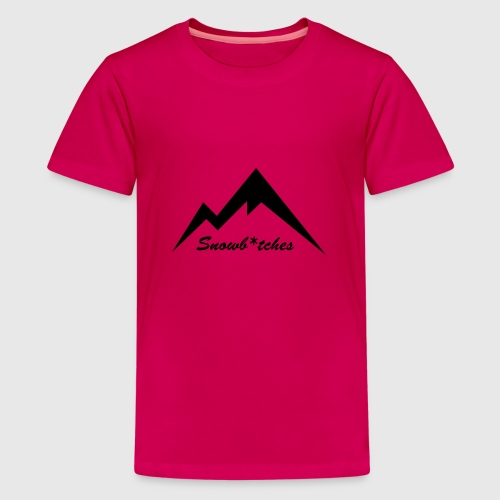 Mountains Logo (W) - Teenage Premium T-Shirt