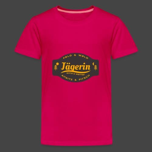 Das Jägerin-Shirt für aktive Jägerinnen - Teenager Premium T-Shirt
