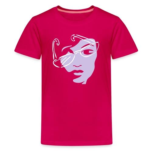 Girl mit Sonnenbrille - Teenager Premium T-Shirt