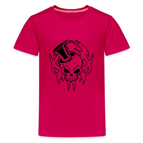 snazzy skull - Teenage Premium T-Shirt