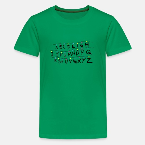 Stranger Things Alphabet - Teenager Premium T-Shirt