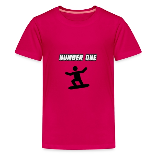 Number One Snowboarder - Teenage Premium T-Shirt