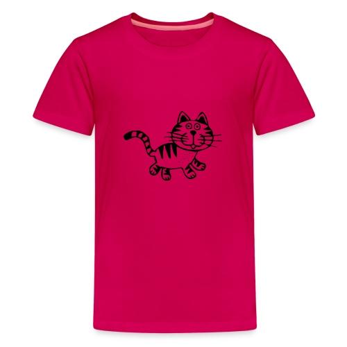 Friendly Cat - Teenager Premium T-Shirt