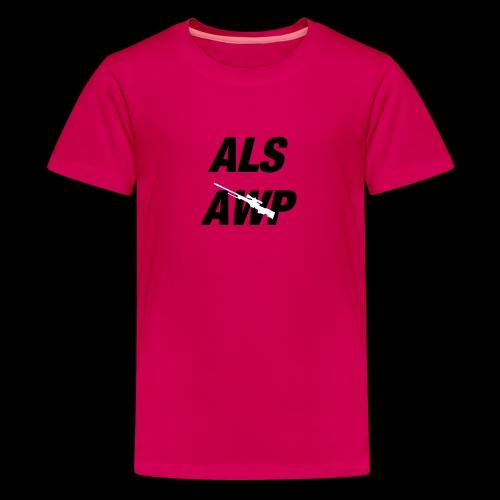 Als AWP - Teenager Premium T-Shirt