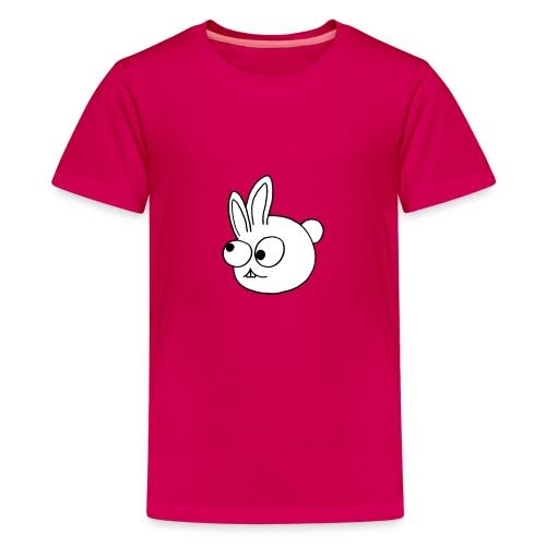 Kinderlijk getekend grappig konijntje - Teenager Premium T-shirt