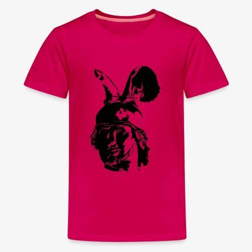 Kopf des Hermannsdenkmals - einfarbig, schlicht - Teenager Premium T-Shirt