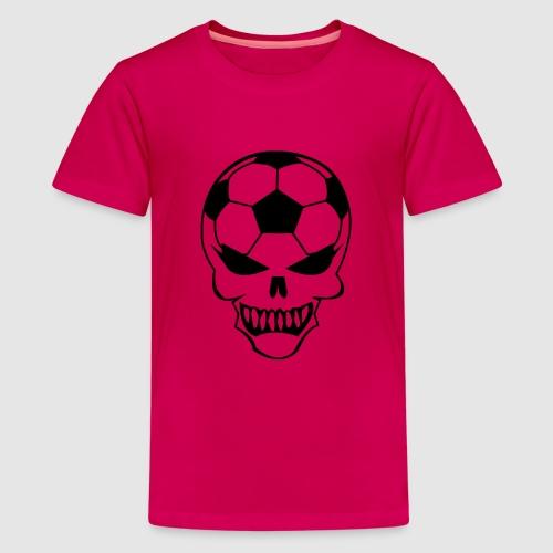 Fußball-Totenkopf - Teenager Premium T-Shirt