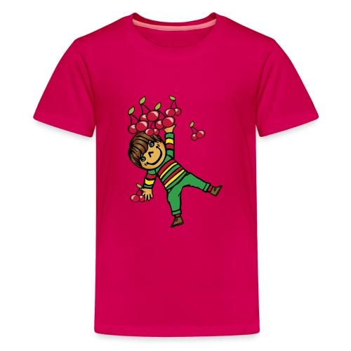 08 kinder kapuzenpullover hinten - Teenager Premium T-Shirt
