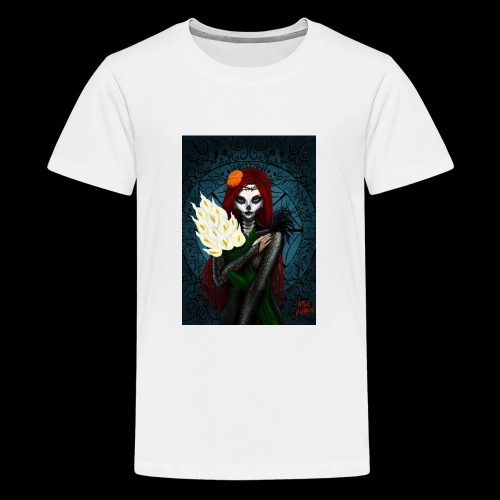 Death and lillies - Teenage Premium T-Shirt