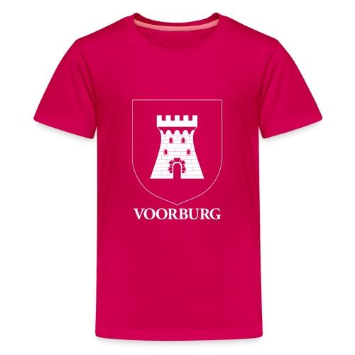 Voorburg wapen diapositief wit - Teenager Premium T-shirt