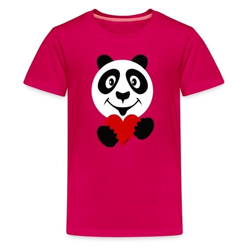 PANDA HEART Tekstiles and Gift products FP10-51A - Teinien premium t-paita