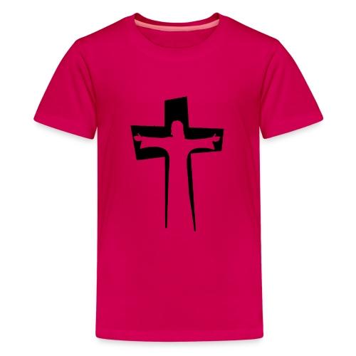 Abstrakt Jesus på korset - Premium-T-shirt tonåring
