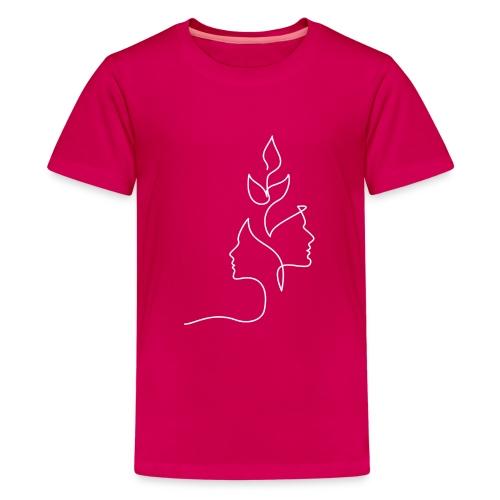 Tanke Hvid - Teenager premium T-shirt