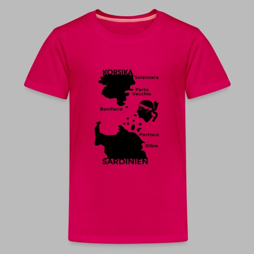 Korsika Sardinien Mori - Teenager Premium T-Shirt
