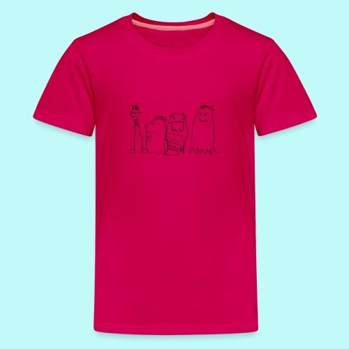 4 Geister - Teenager Premium T-Shirt