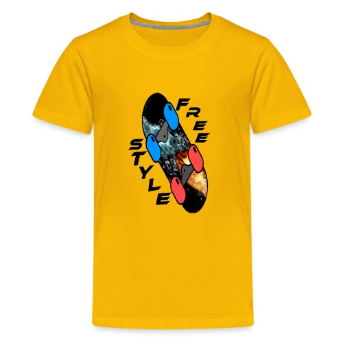 Skateboard Freestyle - Teenager Premium T-Shirt