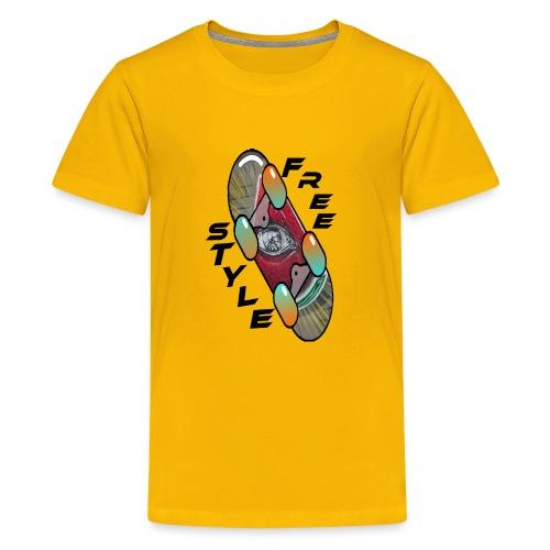 Skateboard Freestyle 2 - Teenager Premium T-Shirt