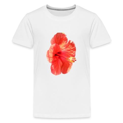 A red flower - Teenage Premium T-Shirt