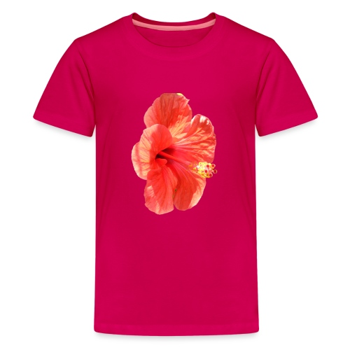 A red flower - Teenage Premium T-Shirt