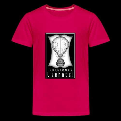 logotipo de ediciones Vernacci - Camiseta premium adolescente