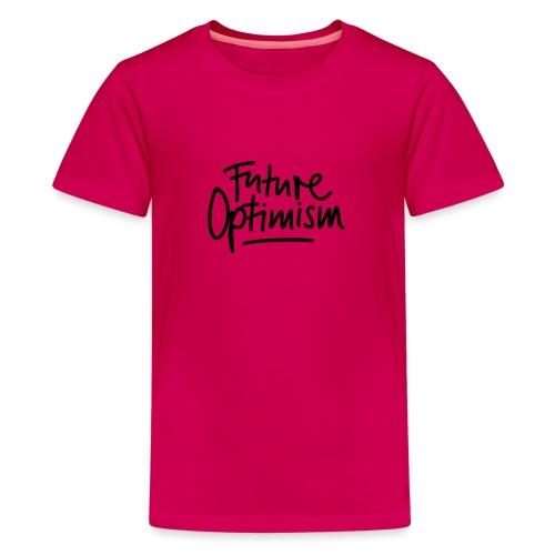 Future Optimism Black - Teenager Premium T-Shirt