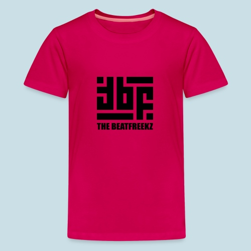 the beatfreekz logo 3 black - Teenage Premium T-Shirt